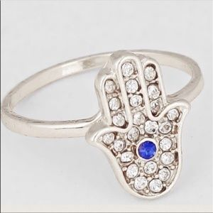 Hamsa Hand of Fatima Ring